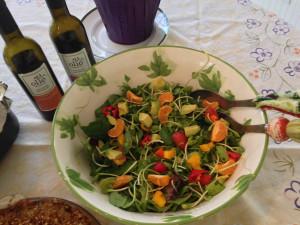 Easter Salad w balsamic and blood orange olive oil