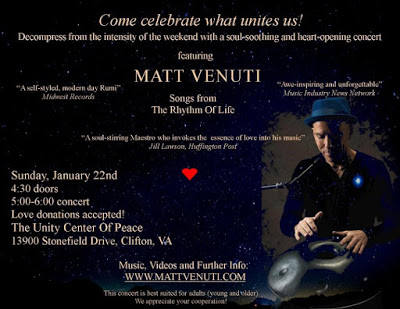 Venue Change for Saturday January 22nd Concert